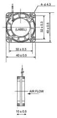Sunon Cy 410 Dc Ventilator 40 X 40 X 10 mm