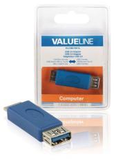 Valueline VLCB61901L Usb 3,0 Usb Micro B Mannelijk - Usb A Vrouwelijk Adapter Blauw