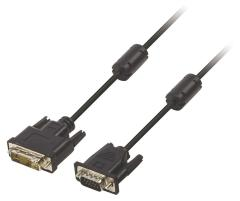 Valueline VLCP32100B50 Dvi - Vga Kabel Dvi-a 12+5-pin Male - Vga Male 5,00 M Zwart