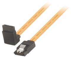 Valueline VLCP73260Y10 Sata 6 gb/s Datakabel Sata 7-pins Vrouwelijk met Slot - Sata 7-pins Vrouw