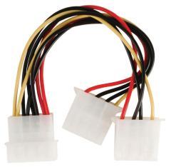 Valueline VLCP74020V015 Molex Stroom Splitterkabel Molex Mannelijk - 2x Molex Vrouwelijk 0,15 M