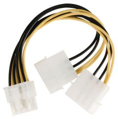 Valueline VLCP74400V015 Interne Stroom Splitterkabel Eps 8-pins - 2x Molex Mannelijk 0,15 M Veel