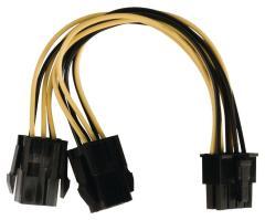 Valueline VLCP74415V015 Interne Stroom Splitterkabel Eps 8-pins - 2x Pci Express 0,15 M Veelkleu