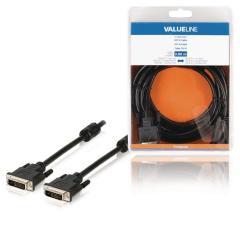 Valueline VLCB32000B30 Dvi-d-kabel Dvi-d 24 + 1-pins Mannelijk - Dvi-d 24 + 1-pins Mannelijk 3,0