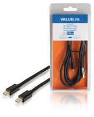 Valueline VLCB37500B20 Mini-displayport-kabel Mini-displayport Mannelijk - Mini-displayport Mann