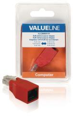 Valueline VLCB89251R Netwerkadapter Rj45 Male - Rj45 Female Rood