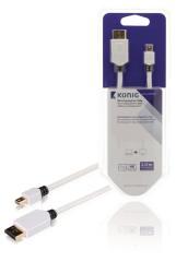 Konig KNM37400W20 Mini Displayport Kabel Mini Displayport Male - Displayport Male 2,00 M Wit