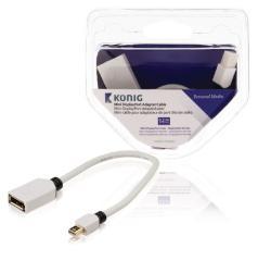 Konig KNM37450W02 Mini Displayport Adapterkabel Mini Displayport Male - Displayport Female 0,20