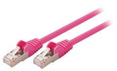 Valueline VLCP85121P10 Cat5e Sf/utp Netwerkkabel Rj45 (8/8) Male - Rj45 (8/8) Male 1,00 M Roze
