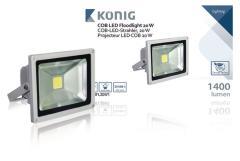 Konig KNLEDFL20W1 LED Bouwlamp Floodlight 20W 1400Lm Grijs
