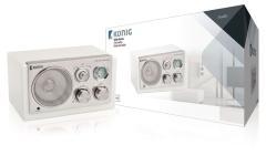 Konig HAV-TR1200 Draagbare Retro MP3/Smartphone/Tablet Radio Wit