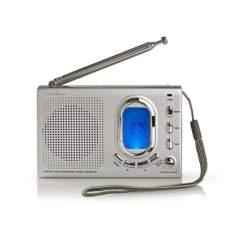 Nedis RDWR1000GY Fm-radio 1.5w Wereldontvanger Alarmfunctie Grijs
