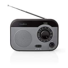 Nedis RDFM1340GY Fm/am-radio 1.8 W Draaggreep Grijs/zwart