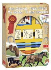 Stempelset Paarden 4 Stempels + Viltstiften