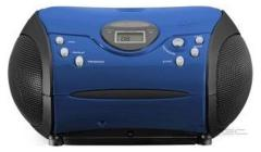 Lenco SCD-24 Draagbare Radio CD Speler Blauw/Zwart