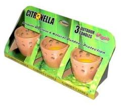 Citronella Terra Cotta Potjes Set van 3
