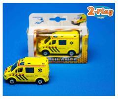 Diecast Pull Back Ambulance 8 cm