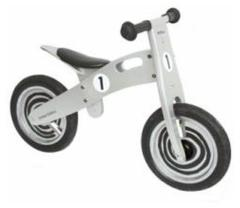 Simply for Kids Houten Loopfiets Silver