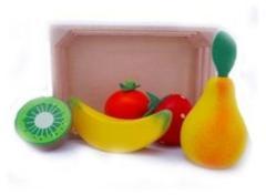 Simply for Kids Houten Kratje en Fruit