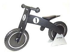 Simply for Kids Balance Bike Black Houten Loopfiets met Anti-Lek Band