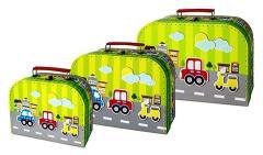 Simply for Kids 3-delige Kofferset Voertuigen