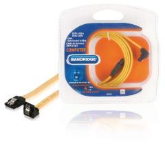Bandridge BCL9201 Sata 6 Gb/s-datakabel Sata 7-pins Contraplug - Sata 7-pins Contraplug 90 Degre