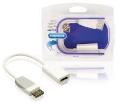 Bandridge BBM37150W02 Displayport Naar Hdmi-adapter Displayport Plug - Hdmi-uitgang 0,2 M Wit