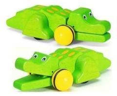 Pintoy P04512 Houten Pull-Back Krokodil 13,5cm