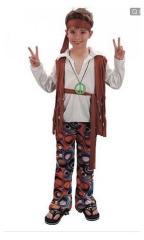 Clown Kinderkostuum Hippie Jongen 7-9 jaar
