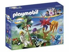 Playmobil 6687 Super4 Verlaten Wereld met Alien en Raptor