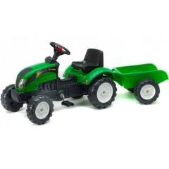 Falk Ranch Trac Tractor met Aanhanger (Groen) 2+
